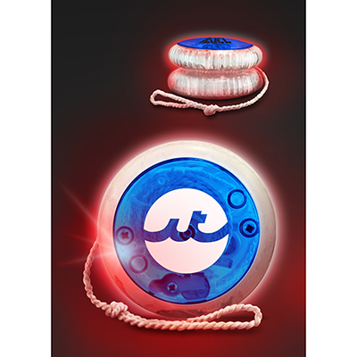 led lighted yoyo - blue