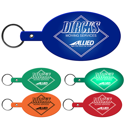 large oval flexible key-tag
