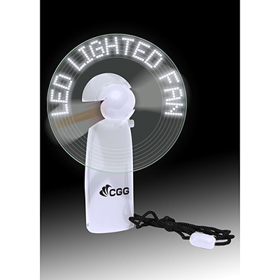 led lighted message fan - white
