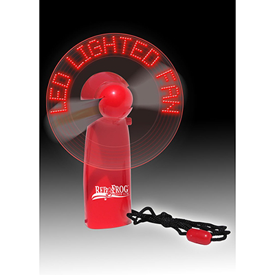 led lighted message fan - red