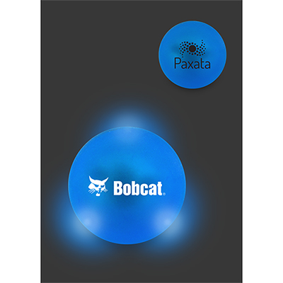 frosted bouncen blink lighted ball - blue
