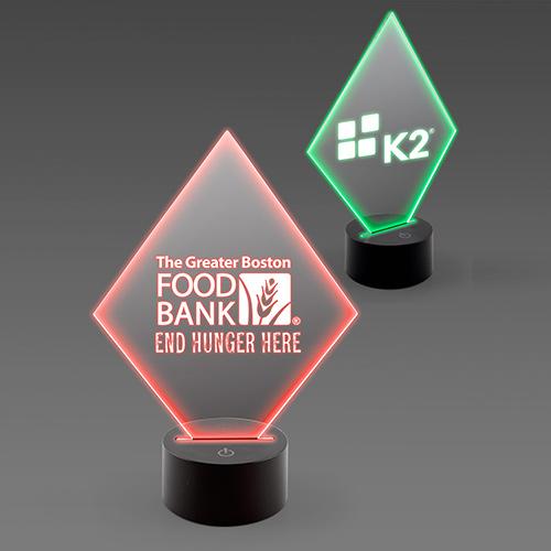 acrylic diamond lighted awards