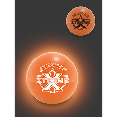 color glow bouncen blink lighted ball - orange