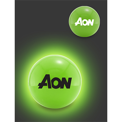 color glow bouncen blink lighted ball - green