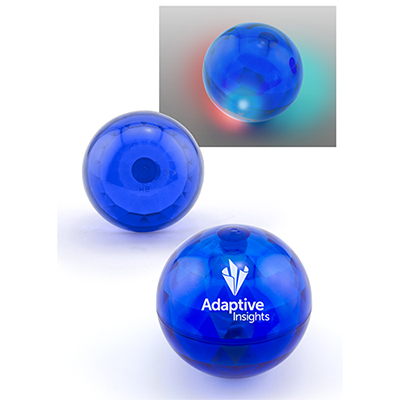 lighted air throw ball - blue