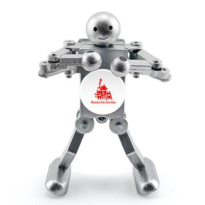 boogie bot - metallic silver