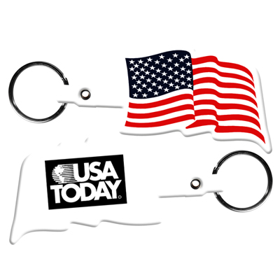 key tags with USA flag