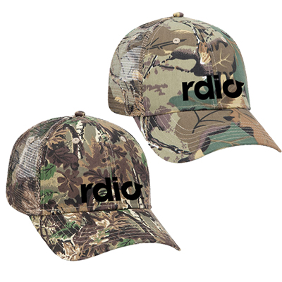 camouflage low profile mesh back trucker hat