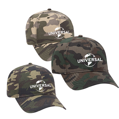 camouflage cotton twill six panel low profile style cap