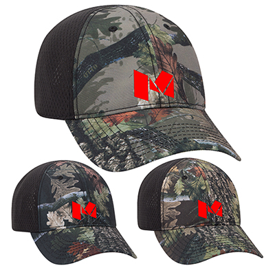 camouflage six panel low profile style cap