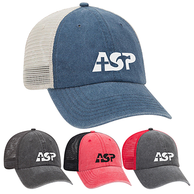 6a8e5a72833 garment washed mesh back cap
