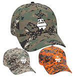 30100 - Digital Camouflage Cotton Blend Twill Cap