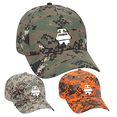digital camouflage cotton blend twill cap