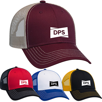 fc20f06ddef contrast stitching six panel mesh back cap