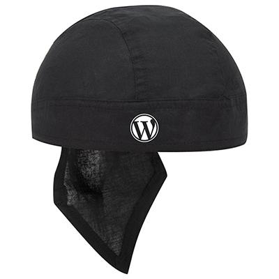 cotton poplin biker head wrap