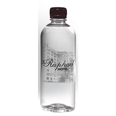 16.9 oz. custom label short bullet cylinder bottled water