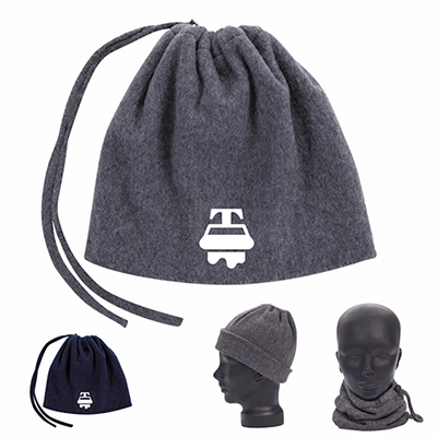 2-in-1 neck warmer and hat