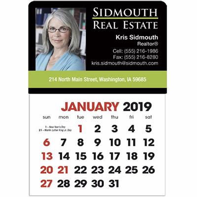 full color stick up calendar- english grid