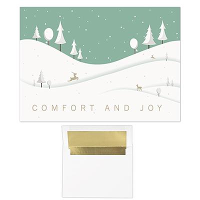 snow hills - 5 x 7 classic card
