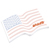 Creative Medium Post It Notes - Flag Post It Notes with Logo