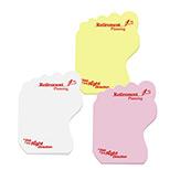 Corporate Medium Post It Notes - Left Foot Post It Notes with Logo