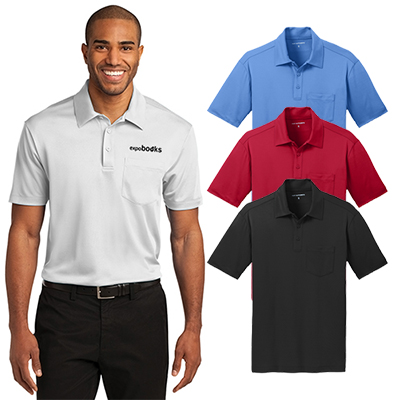 6fe966b7 Order the custom printed Port Authority Silk Touch Performance Pocket Polo  for your clients! Product Detail: