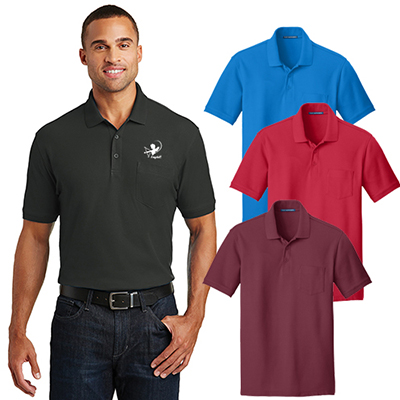port authority® core classic pique pocket polo