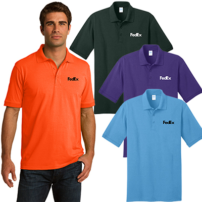 port & company® core blend jersey knit polo (color)
