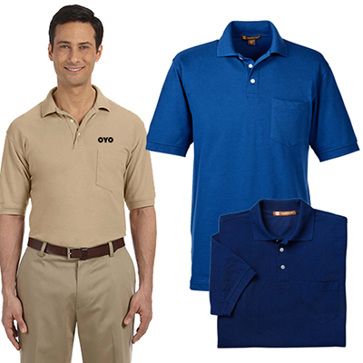 6291b8df The promotional Harriton Men's 5.6 oz. Easy Blend Polo is designed to  impress!