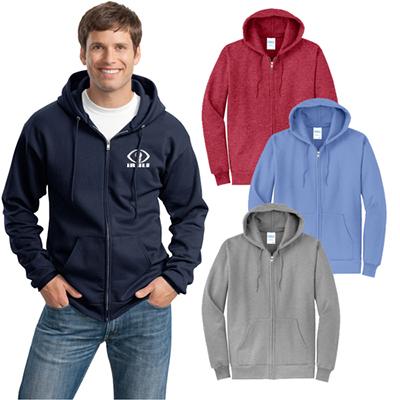 port & company® - core fleece full-zip hooded sweatshirt