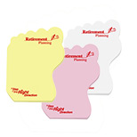Promotional Medium Post-it Die-Cut Notes (Left Foot) 25 Sheets, Personalized Post Its