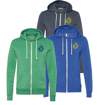 Alternative Eco-Fleece Hooded Full-Zip Sweatshirt