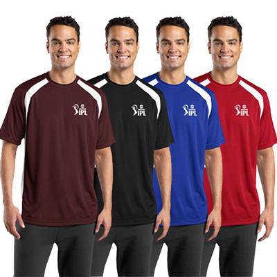 sport-tek® dry zone® colorblock crew