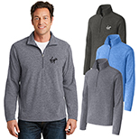 30435 - Port Authority® Heather Microfleece 1/2-Zip Pullover