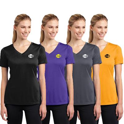 sport-tek® ladies posicharge® competitor™ v-neck tee
