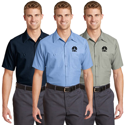 red kap ® - short sleeve industrial work shirt