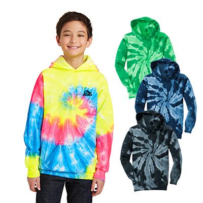 port & company® youth tie-dye pullover sweatshirt