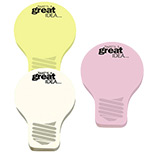 Promotional Large Post-it Die-Cut Notes (Light Bulb) 25 Sheets, Personalized Post Its
