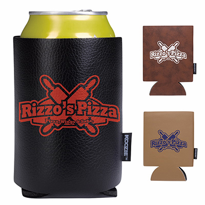 koozie leather-like can kooler