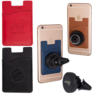 tuscany™ magnetic auto phone holder with pocket