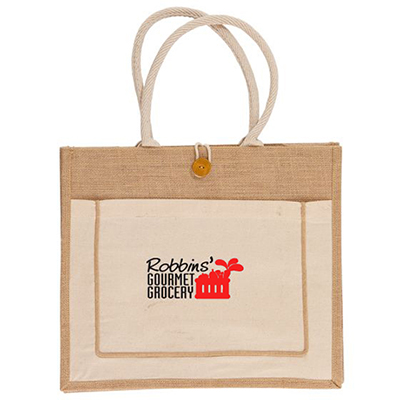 jute tote bag - full color