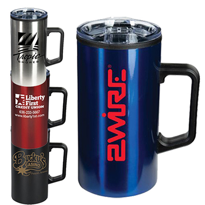 Custom Coffee Promotional Mugs MugImprinted Steel Stainless PZTXwOuki