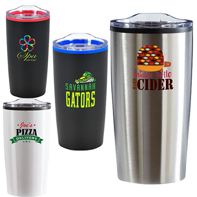 20 oz. color splash economy stainless steel tumbler