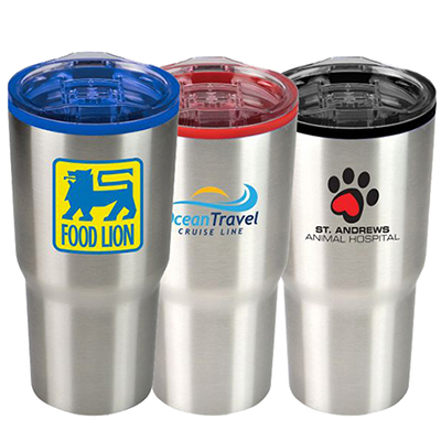 20 oz. color splash stainless steel economy tumbler
