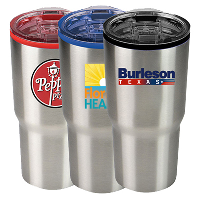 30 oz. color splash stainless steel economy tumbler