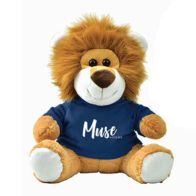 plush lion with t-shirt