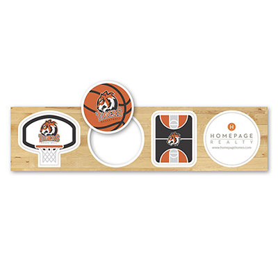 basketball themed magnets