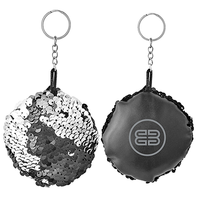 reversible sequins keychain