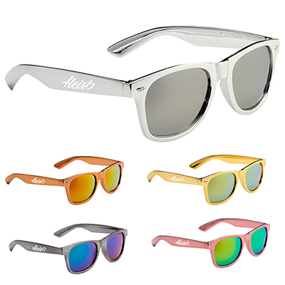 metallic sun ray sunglasses