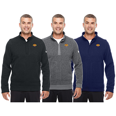 434f6a4fe The promotional under Armour Men's Elevate Zip Sweater: The perfect  giveaway for your clients!